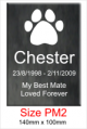 High Quality Personalised Slate Dog or Cat Memorial
